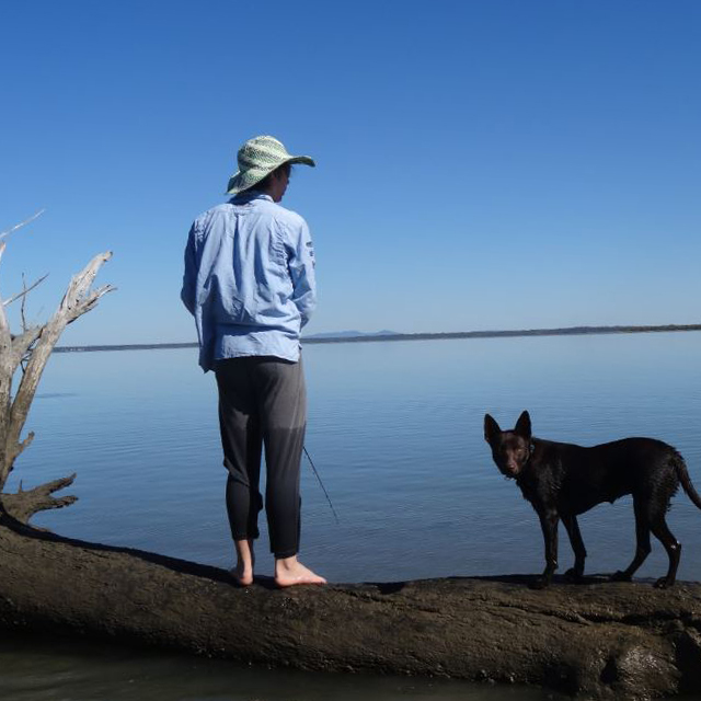 Shakeah_Hough_Boy-Fishing-with-his-dog