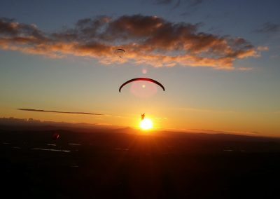 Mt Tamborine Sunset Paraglide by Dom Colvile