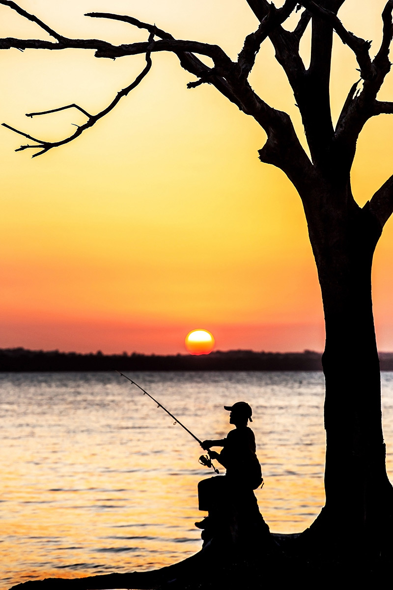 Sunset Fishing by Ellen Foulds