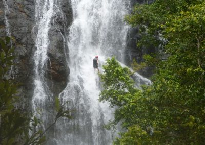 Abseiling Waterfall 2 by Dom Colvile