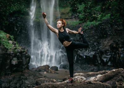 Purling Brook Falls Yoga by Daniel Godson