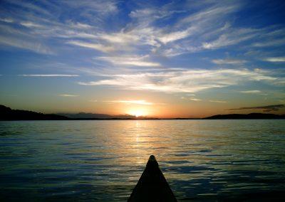 Sunset Kayak by Adam Behrend