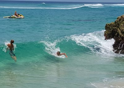 Fun in the Surf at Straddie by Annette Kachel