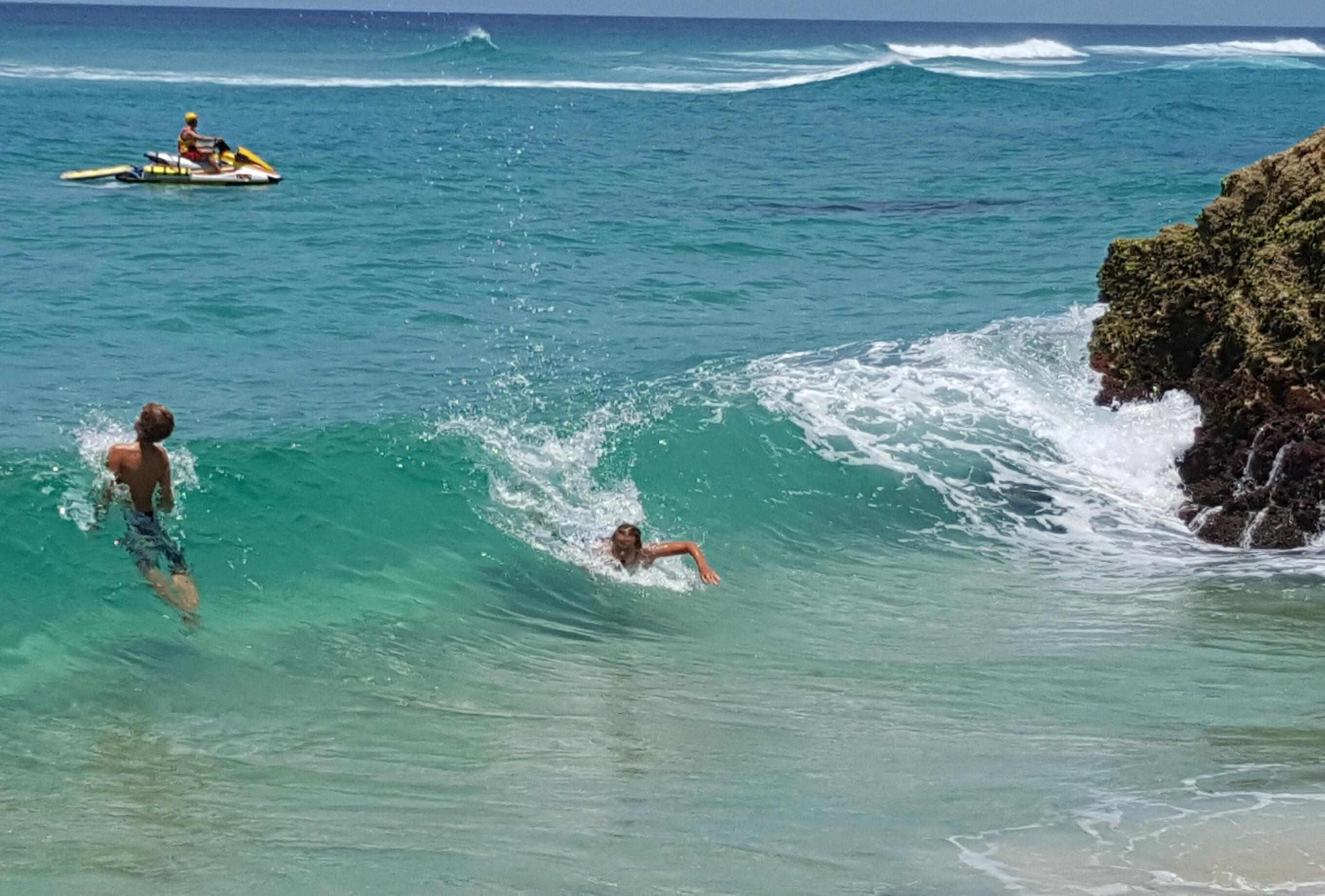 Fun in the Surf at Straddie by Annette Kachel