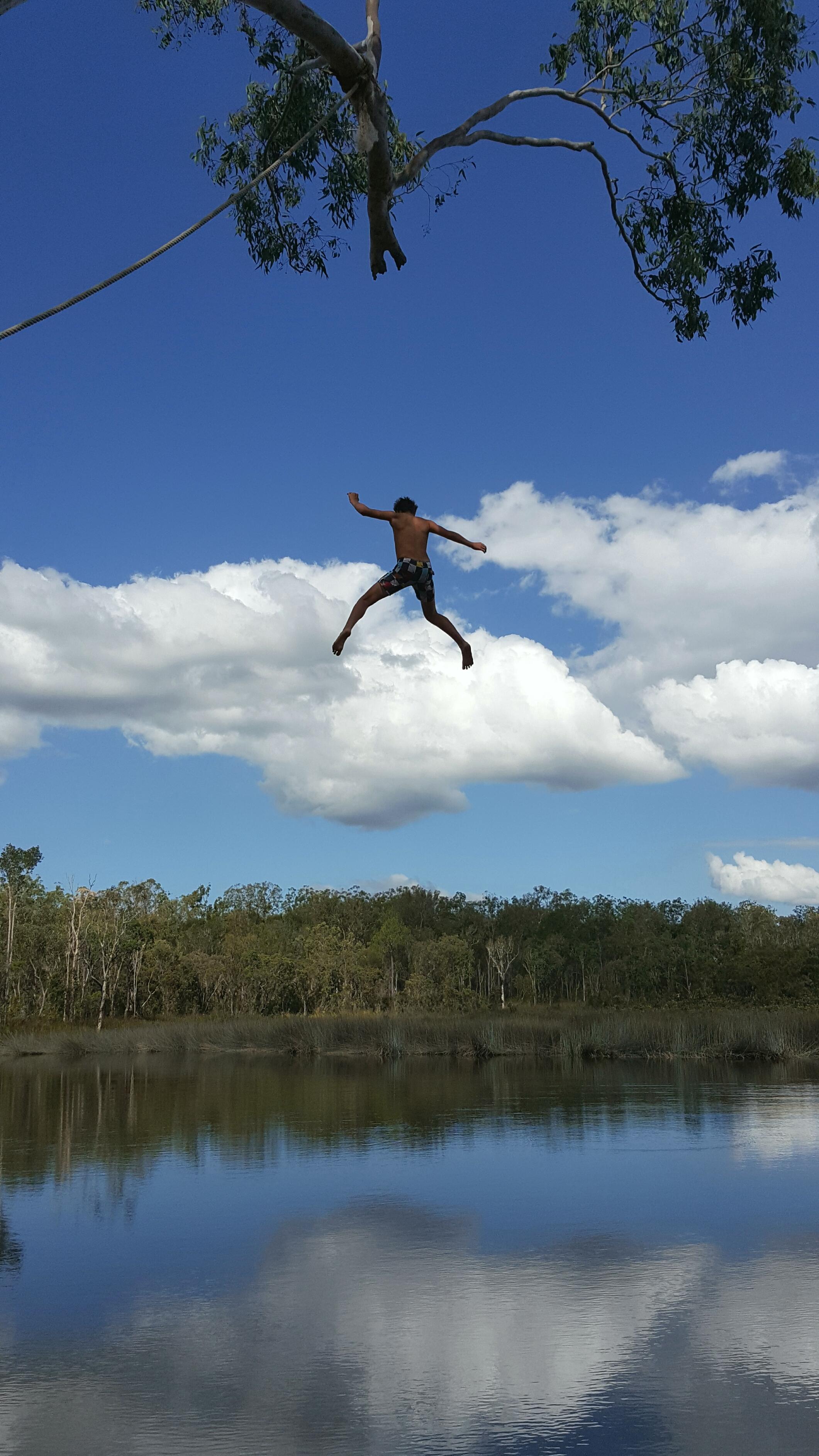 Tea Tree Lake Plunging by Annette Kachel