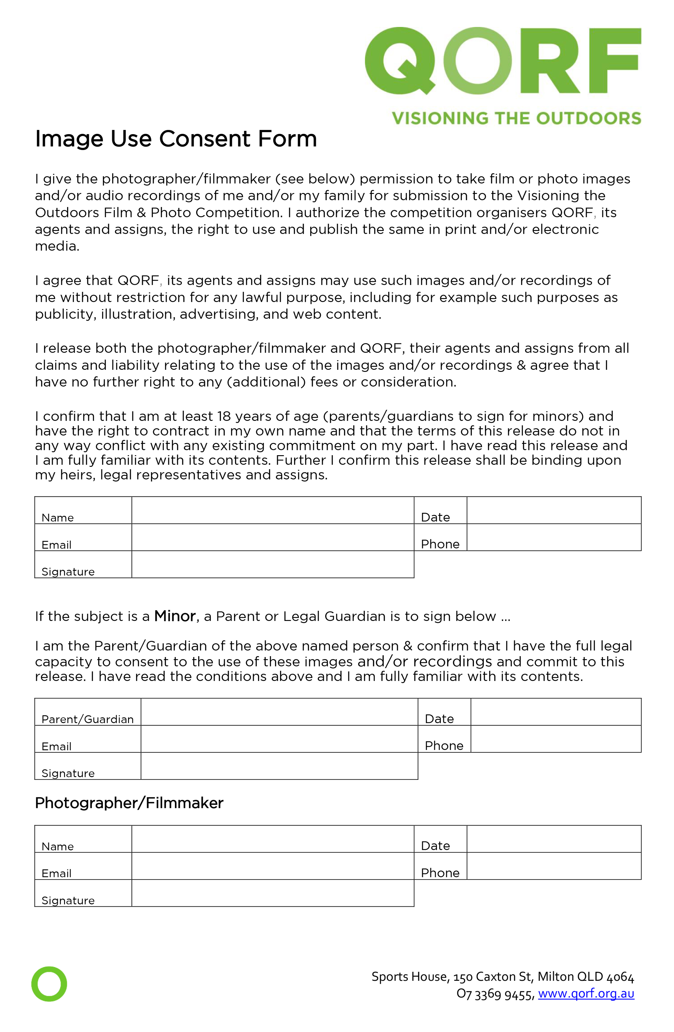 Image Use Consent Form