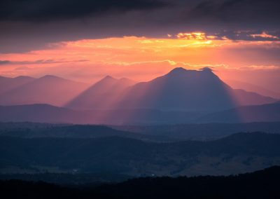 Pink Hour over Mt Barney by Lachlan Gardiner