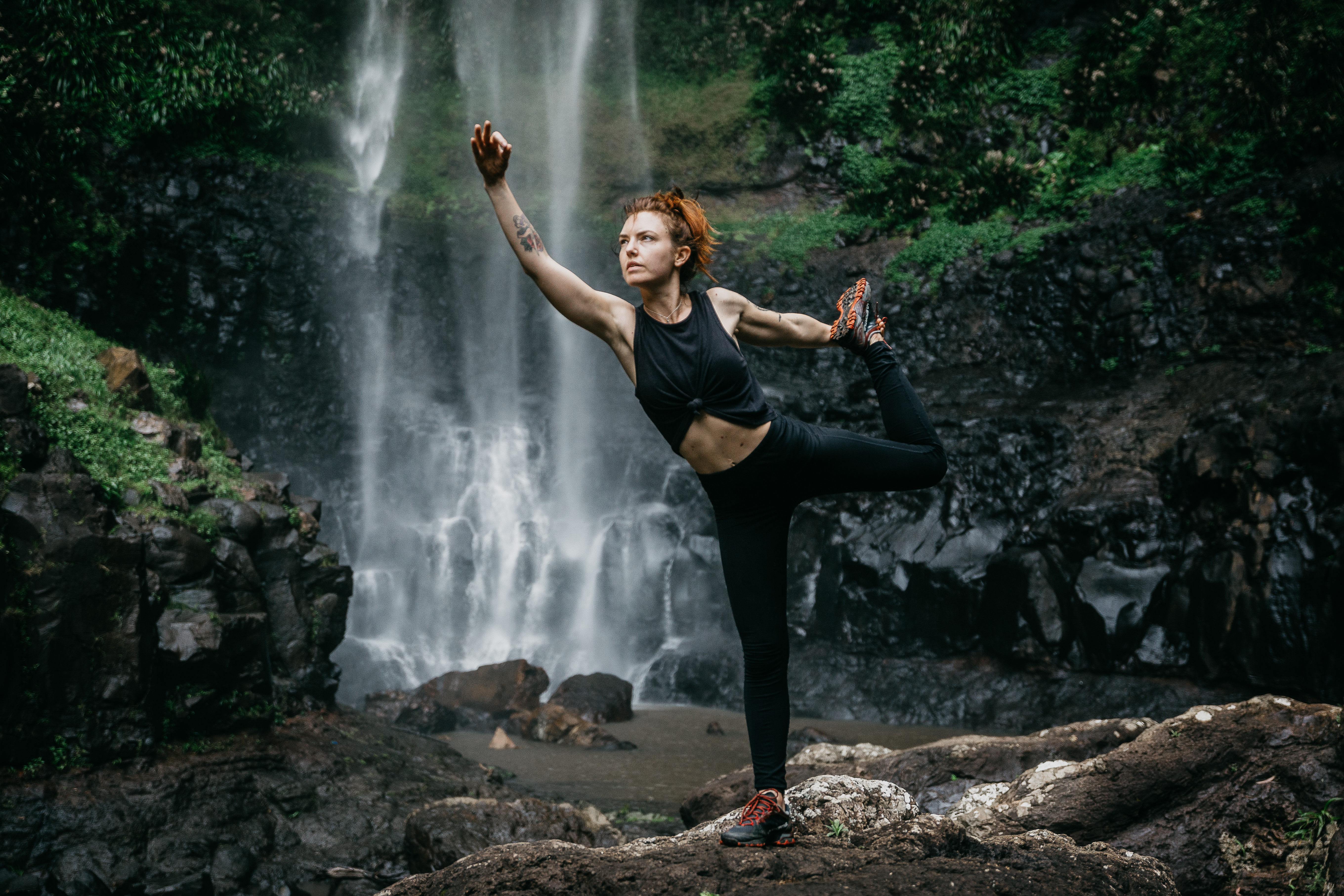 Purling Brook Falls Yoga by Daniel Godson
