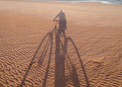 Coonarr Beach Shadows by Neville Clark