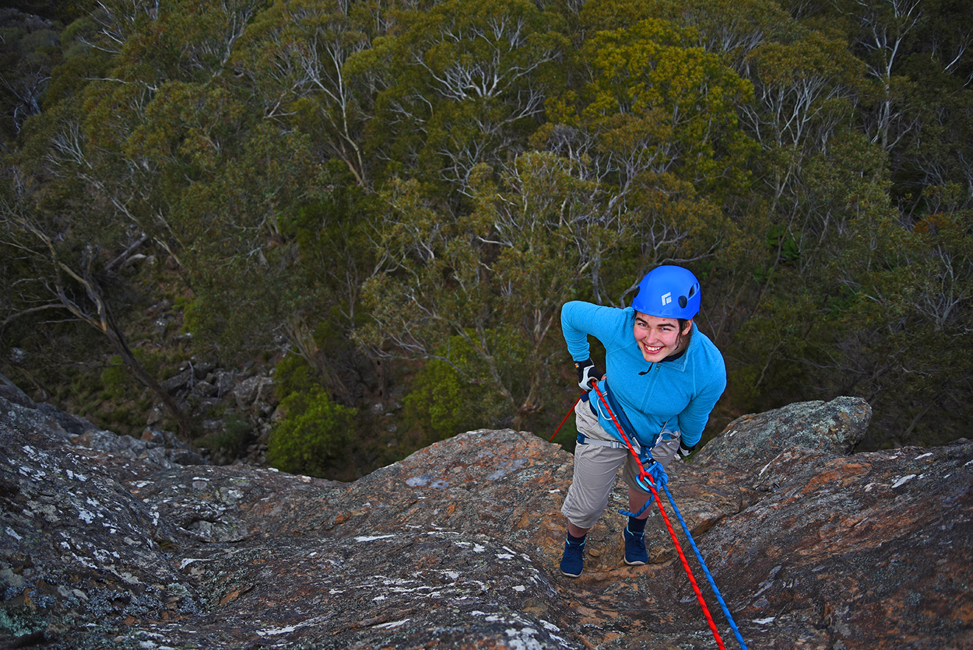 Down the Abseil by Marita Hills