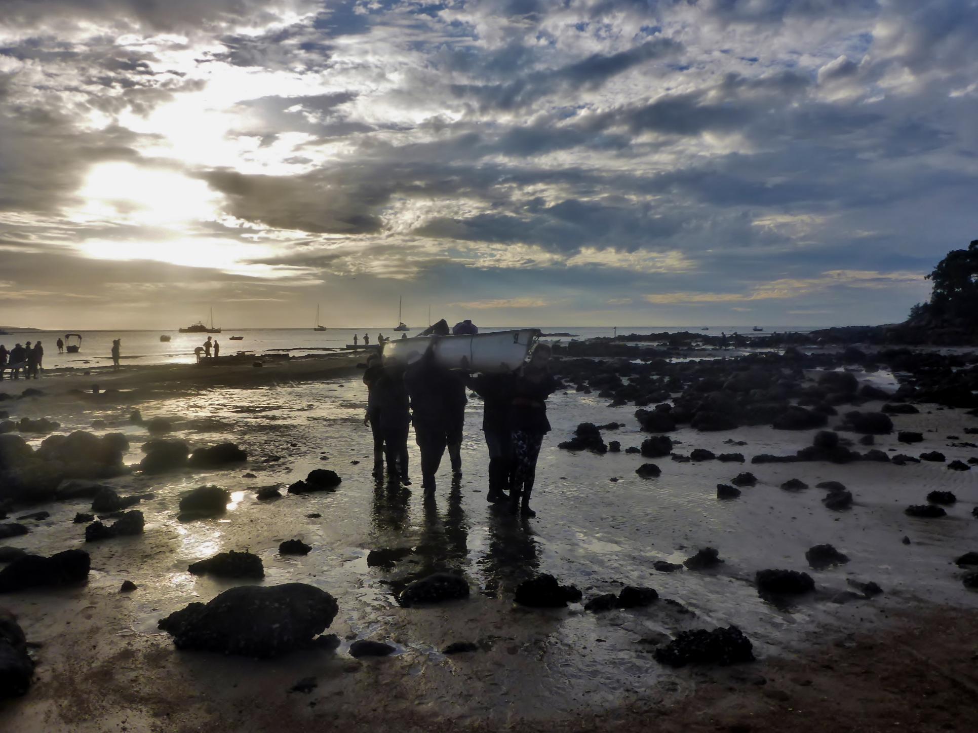 Low Tide Team Beaching by Nadia Ebersohn